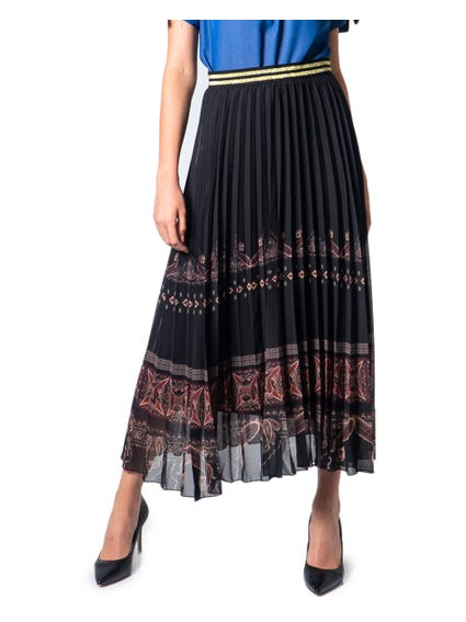 Metallic Waist Maxi Skirt