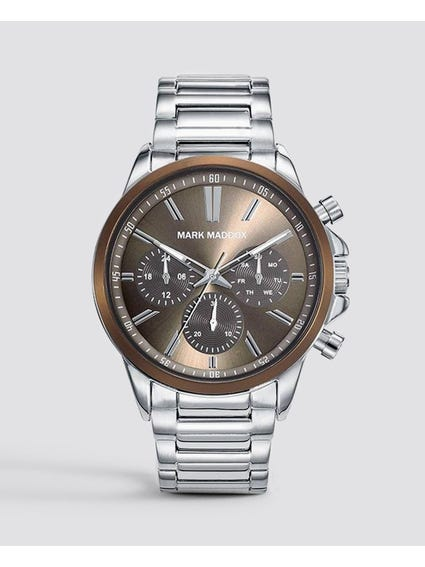 Brown Dial Chronograph Watch