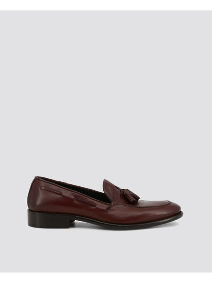 Dark Brown Anemaecore Tassel Leather Lace Loafers