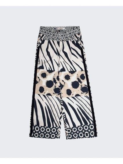 Abstract Print Kids Trouser