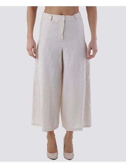 Pleated Side Wide Pants