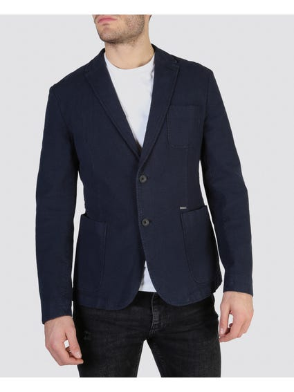 Collar Neck Button Blazer