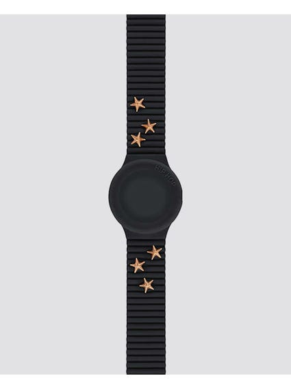 Black Punk Lady Analog Watch