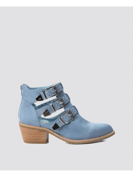 Jeans Buckle Ankle Boots