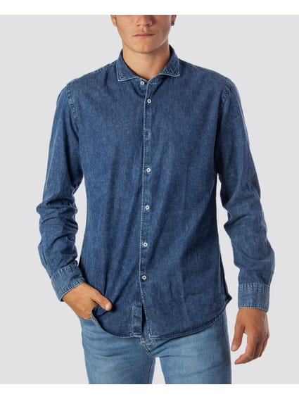 Denim Button Long Sleeve Shirt