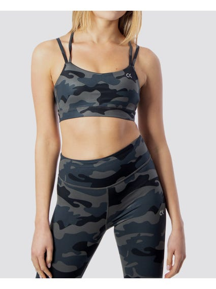 Strappy Camouflage Cropped Top