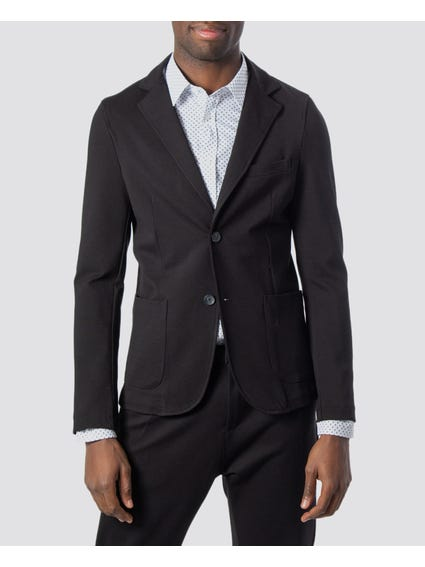 Black Lapel Collar Blazer