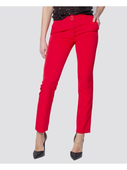 Red Two Pockets Pants