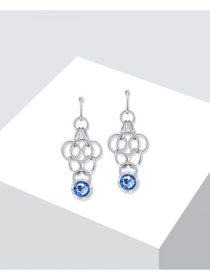 Blue Crystal Essenza Earrings