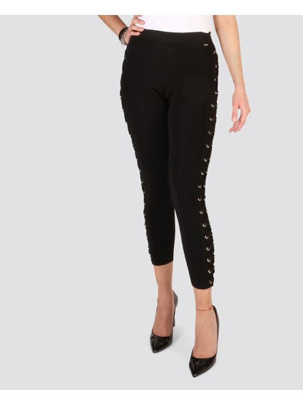 Black Eyelet Lace Trouser