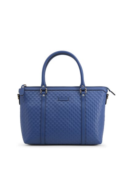 Blue Double Handle Hand Bag