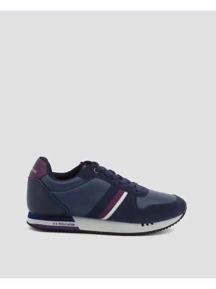 Blue Corad Three Stripe Sneakers