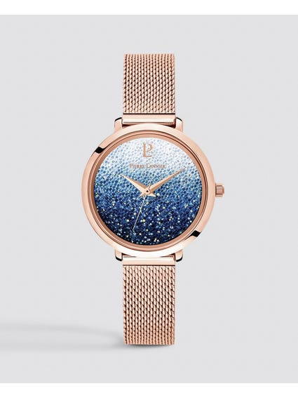 Rose Gold Milanese Steel Watch