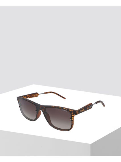 Brown Printed Wayfarer Sunglasses