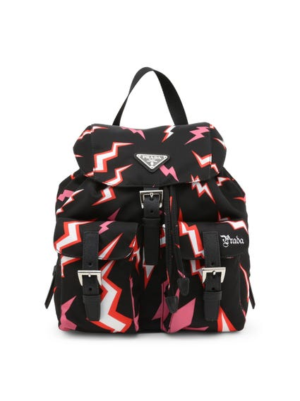 Printed Buckle Backpack