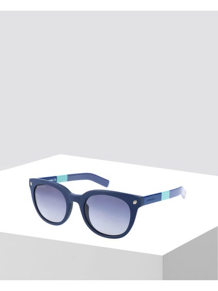 Blue Mirrored Wayfarer Sunglasses