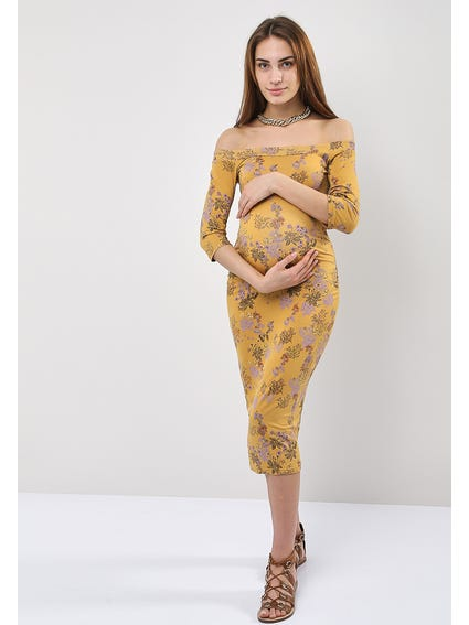 Bardot Floral Print Pencil Dress
