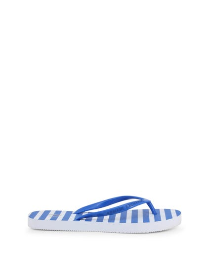 Tong Strap Printed Striped Flip Flops