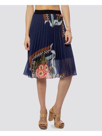 Floral Print Midi Skirt.