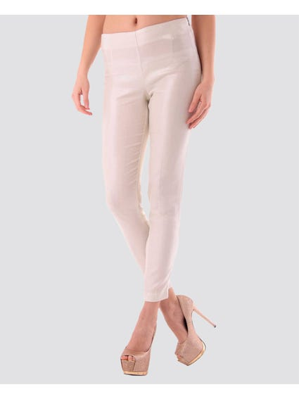 Elasticated Solid Color Leggings