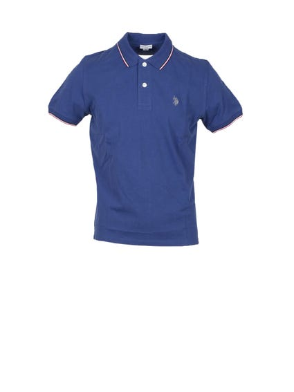 Blue Contrast Lining  Polo Shirt