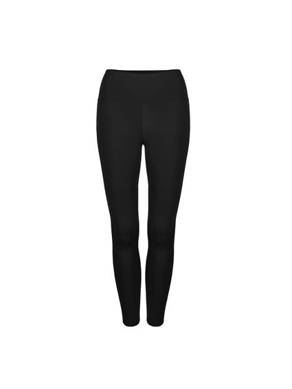 Black Classic Elastic Plain Leggings