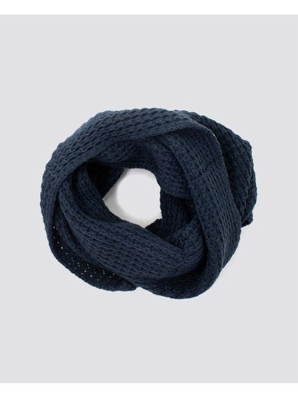 Blue Knitted Scarves
