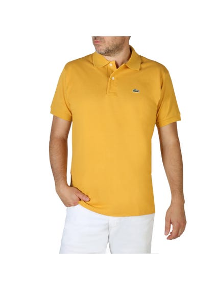 Logo Printed Yellow Polo Shirt