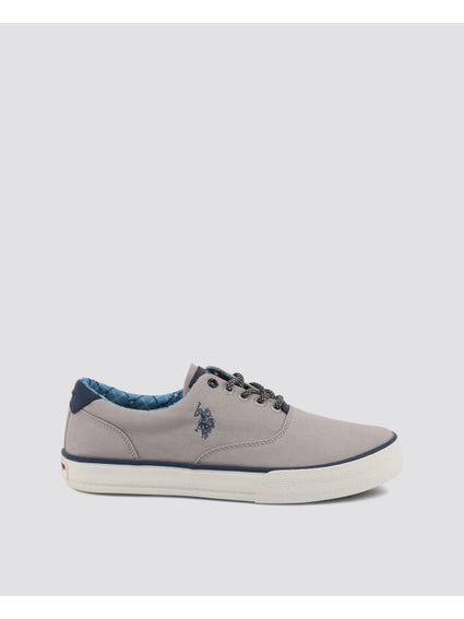 Grey Galan Canvas Sneakers