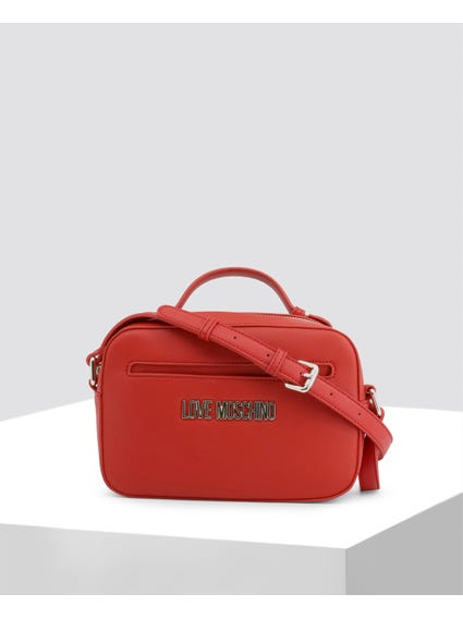 Red Classy Leather Crossbody Bag
