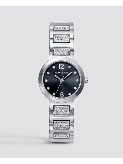 Silver Stone Indices Stainless Steel Watch