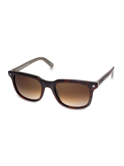 Brown Hinge Arms Sunglasses