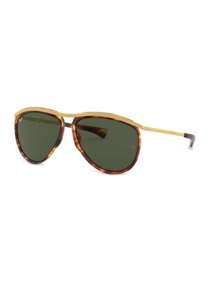 Brown Avaitor Unisex Sunglasses