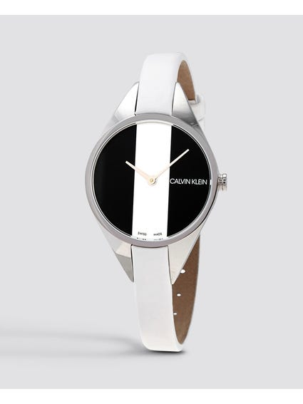 Rebel Quartz Black and White Dial Watch