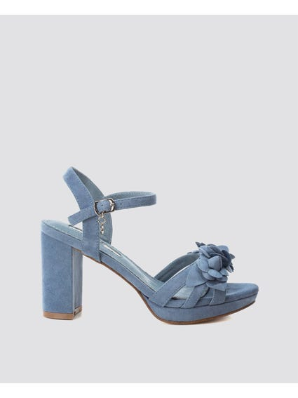 Jeans Ankle Strap Sandals