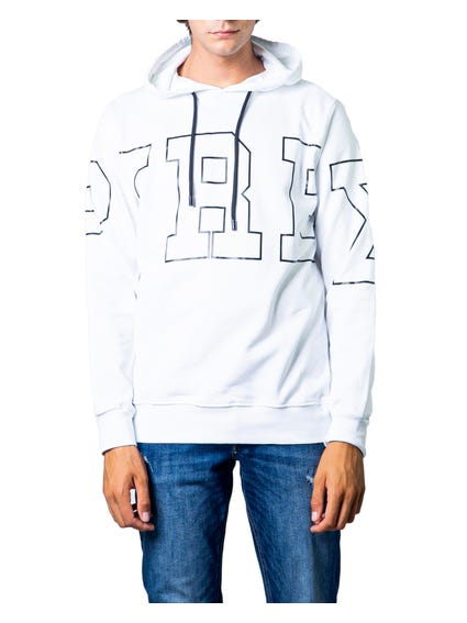 White  Hooded Drawstring Sweatshirt