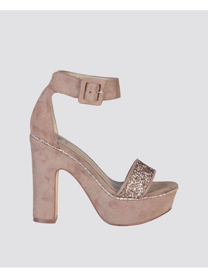 Brown Camelie Glitters Sandals