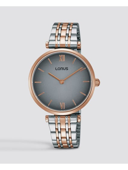 Two Tone Quarts Analog Stainless Steel Watch