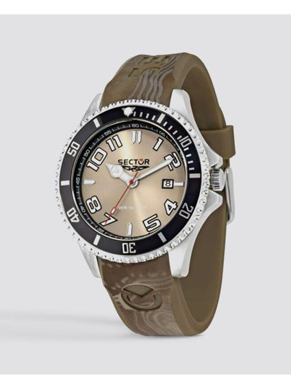 Brown Silicon Strap Analog Watch