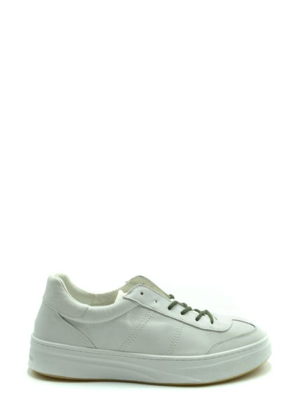 Round Toe  Leather Sneakers