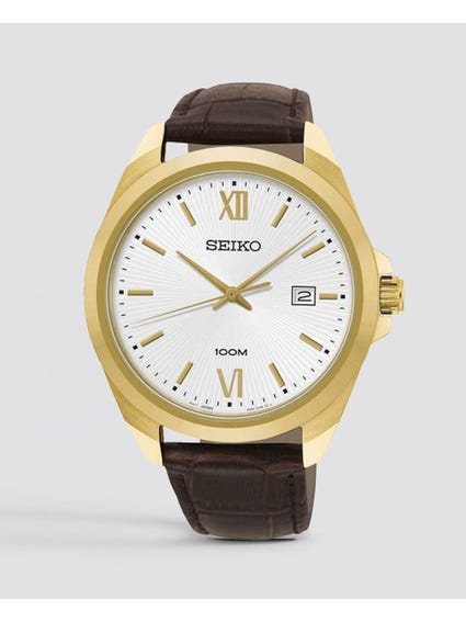 Brown Neo Classic Sports Leather Watch