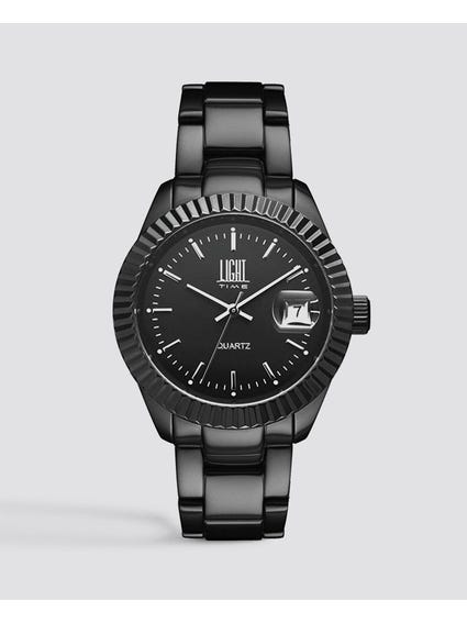 Black Metal Strap Analog Watch