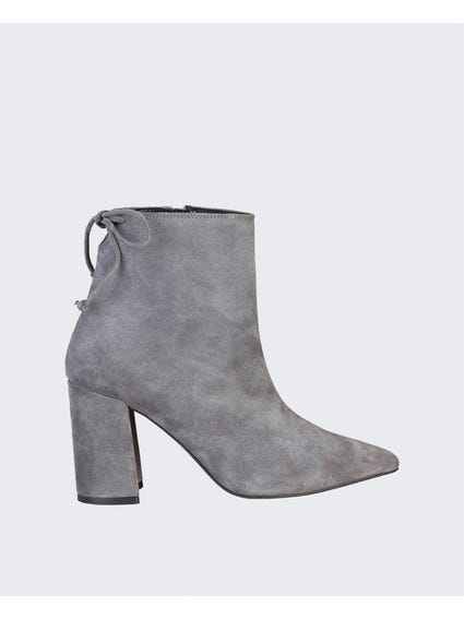 Grey Michela Back Lace Ankle Boots