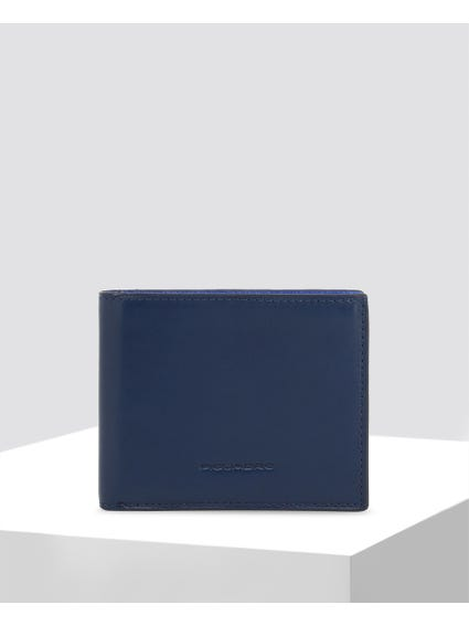 Blue Stitches Leather Wallet