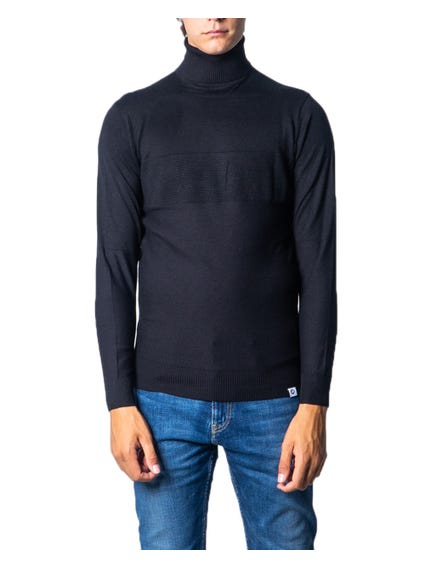 Black Turtleneck Plain Knitwear