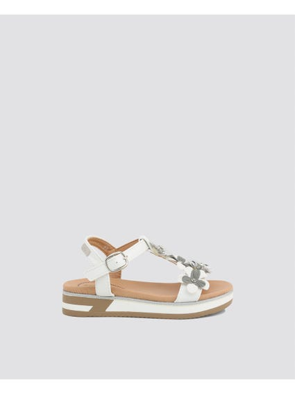 White Patches Kids Sandals
