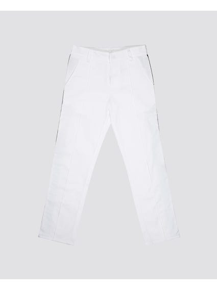 White Side Stripe Kids Trouser
