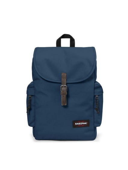 Blue Plian Padded Pocket Backpack