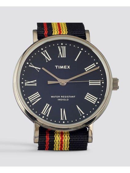 Black Strap Fairfield Avenue Watch