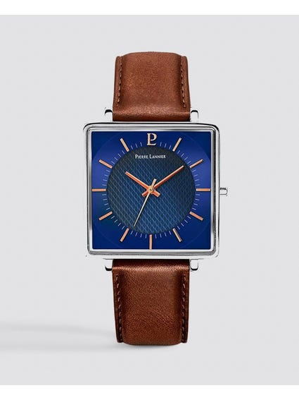 Lecare Brown Leather Analog Watch